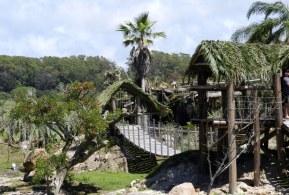 Pèrgolas, isla y puentes